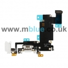 Charging Port and Headphone Jack Flex Cable for iPhone 6S Plus White