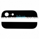 Genuine Apple OEM iPhone 5 Top and Bottom Back Housing Glass Cover Black with adhesive