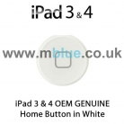 iPad 3 & 4 Genuine Home Button in WHITE