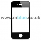 iPhone 4 Black Front Replacement Screen Outer Glass Lens