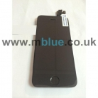 iPhone 5S Complete LCD and Digitizer with Black Home Button and Flex in Black   Including Front Camera/Speaker unit