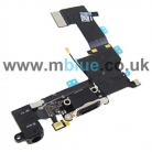 iPhone 5S Dock/Headphone Jack & Microphone Flex Cable   Black
