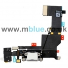 iPhone 5S Dock/Headphone Jack & Microphone Flex Cable - White