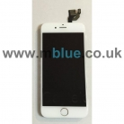 iPhone 6 Complete LCD and Digitizer with Gold Home Button and Flex in White - Including Front Camera and Speaker unit