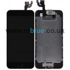 iPhone 6S Complete LCD and Digitizer with Black Home Button and Flex in Black - Including Front Camera and Speaker unit