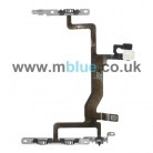 Power On Off Volume Flex Cable with Metal Bracket for iPhone 6S