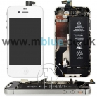 WHITE COMPLETE TOUCH LCD SCREEN CHASSIS PARTS BATTERY CAMERA FOR APPLE IPHONE 4